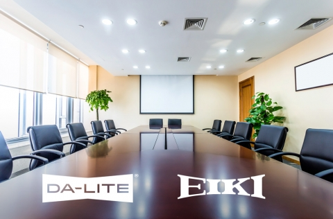 DaLite Eiki Conference Room display